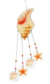 Glass Conch Wind Chime